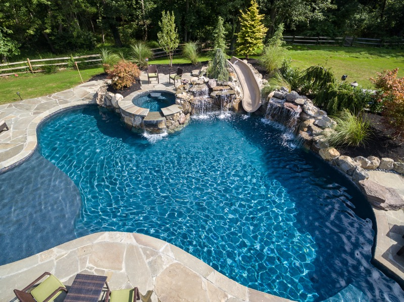 inground pools rumson nj by pools by design new jersey UCEFDXV
