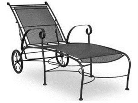 iron patio furniture meadowcraft alexandria wrought iron chaise lounge QCMRLIU