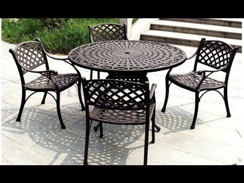 iron patio furniture metal patio furniture~metal patio furniture at lowes - youtube NBCLTTW