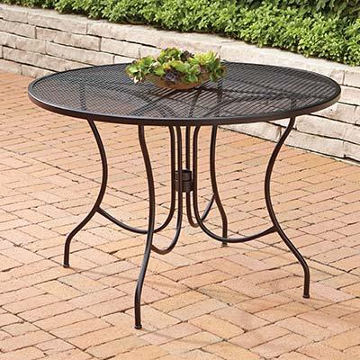iron patio furniture metal patio tables LQAZGAF