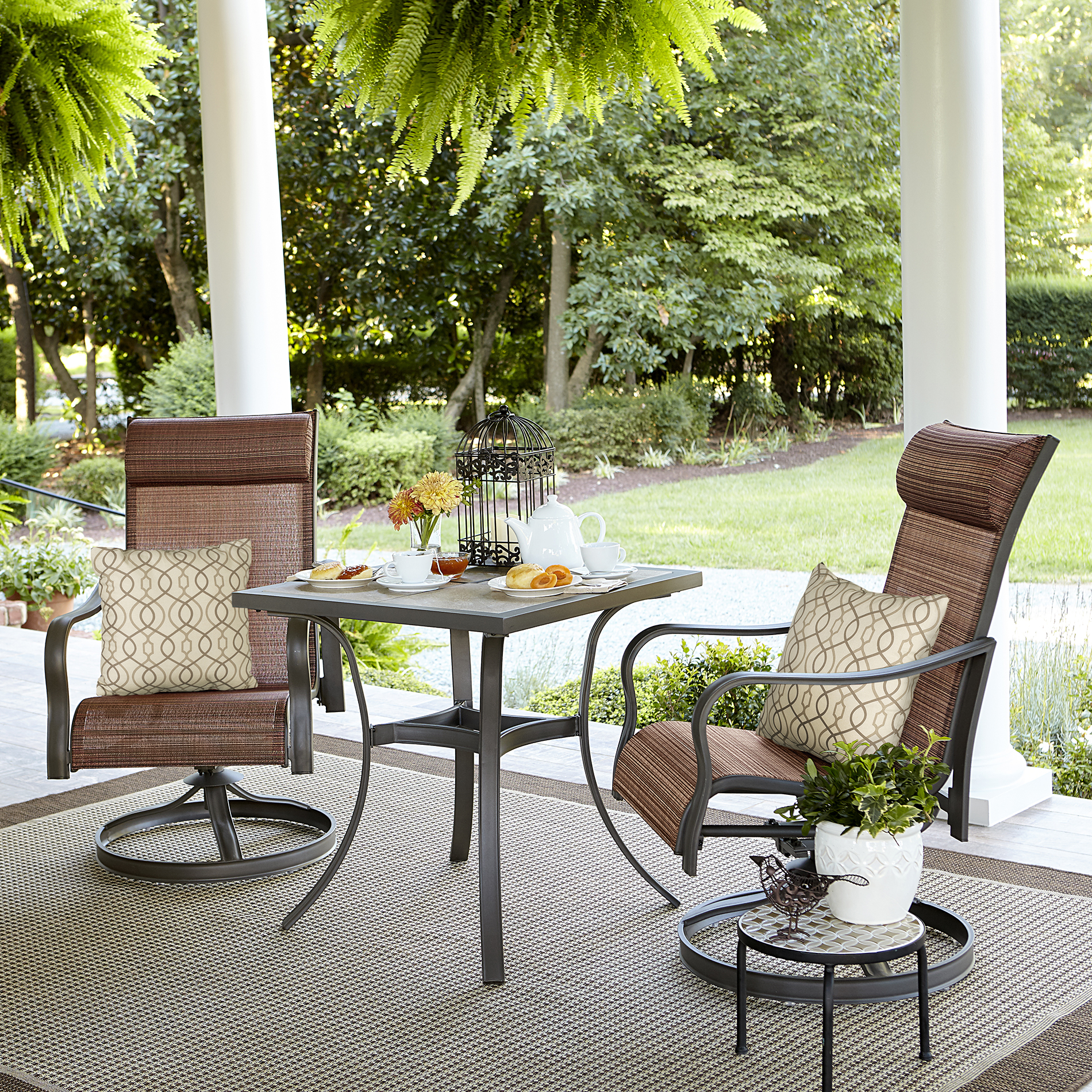 jaclyn smith marion 3-piece rocker bistro patio set *limited availability RNMRWNC