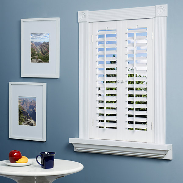jcpenney home™ faux-wood plantation shutters - 2 panels-jcpenney EVYEUZX