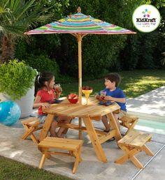 kids garden furniture kidkraft octagon patio table and