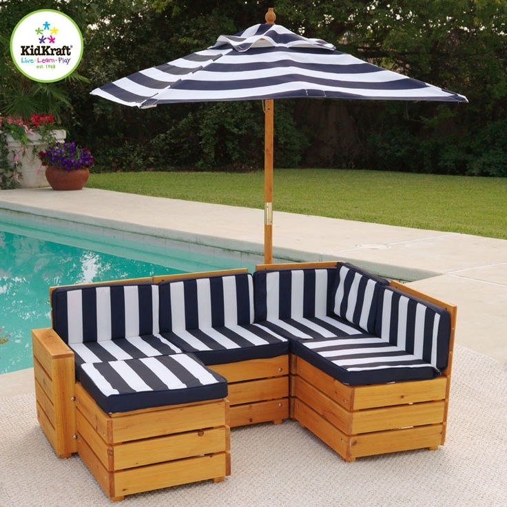 kids outdoor furniture kid sized outdoor sectional how cute is this XZBWTCD