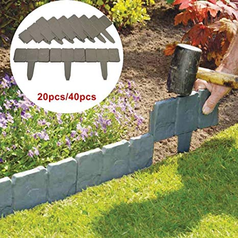 kingso garden border edging stones set of 20 stones stone effect cobbled MJJLIZE
