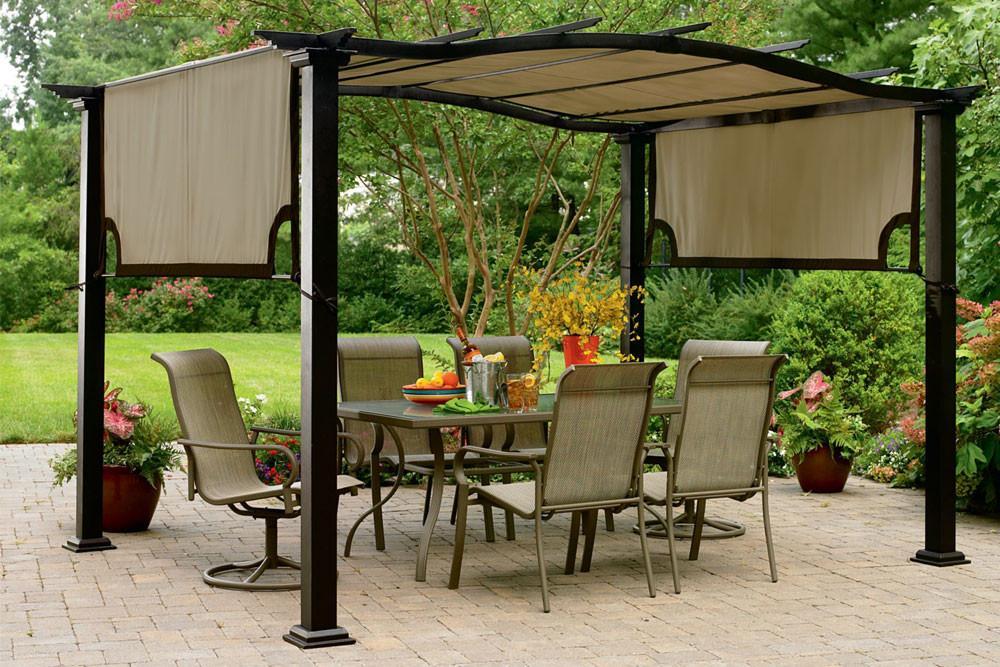 kmart essential garden curved pergola canopy ... EFOOZMR