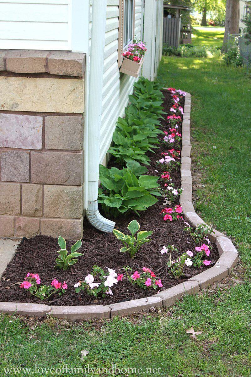 landscape edging ideas 1. simple flower bed with