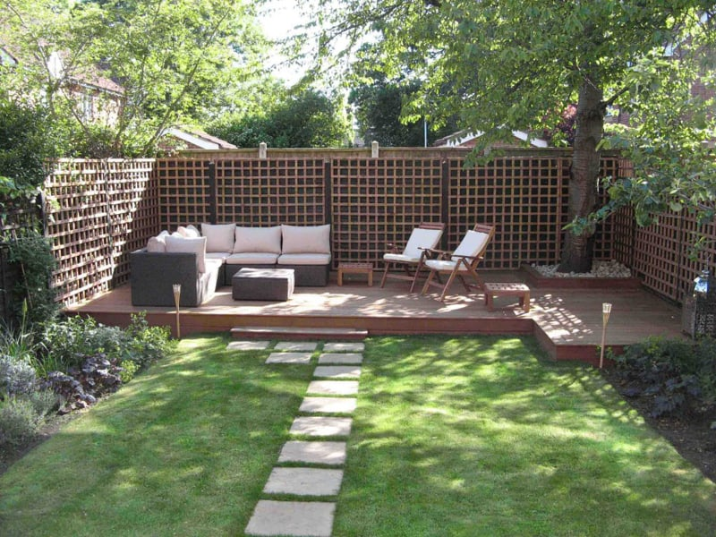 landscaping ideas for backyard ... small backyard landscaping