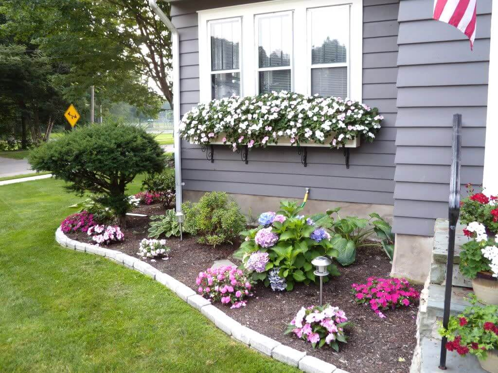 landscaping ideas for front yard 1. cheerful floral