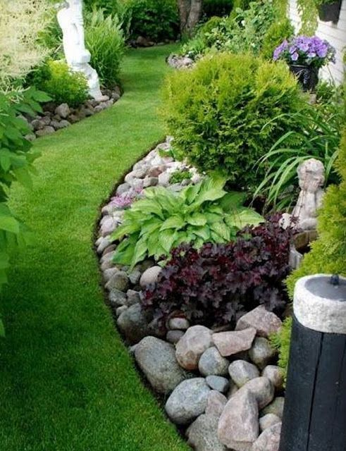 landscaping with rocks mixing in rocks into gardens CZLBNPW