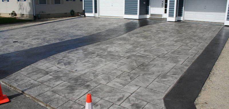 lanoka stamped concrete driveway EHSMRJG