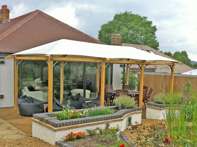 large garden gazebo ideas HDKKCVL