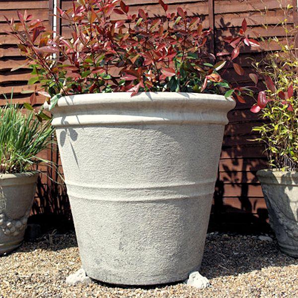 large garden pots stone flower planters bold design