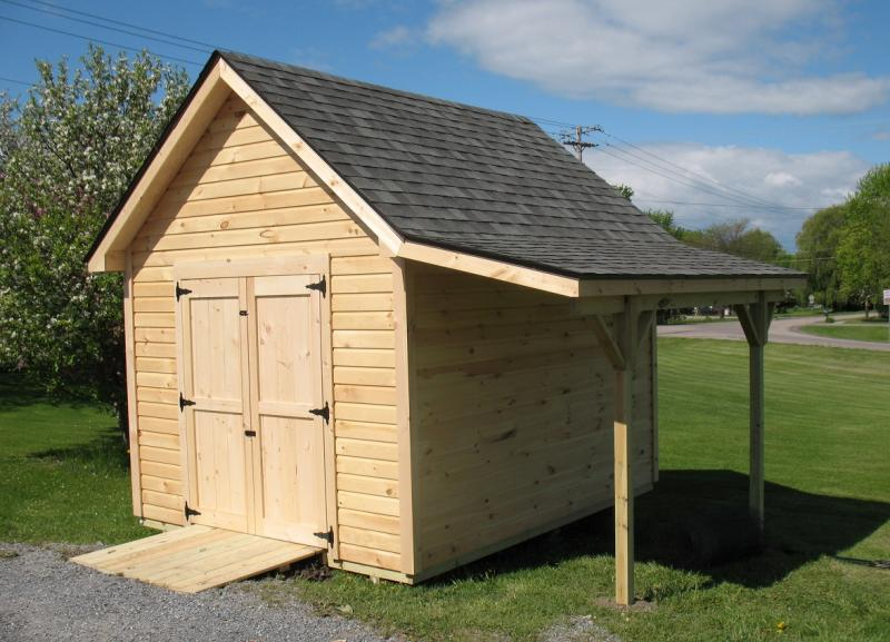 large sheds overhangs can add a lot of extra covered space for storage. perfect KURDDKL