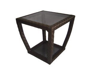 lawley style 20.5 x 20.5 square outdoor patio side table HWVMGXR