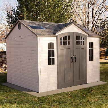 lifetime 10u0027 x 8u0027 outdoor storage shed with carriage doors FZLNRKS