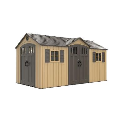 lifetime 15u0027 x 8u0027 outdoor storage shed NRFLSKV