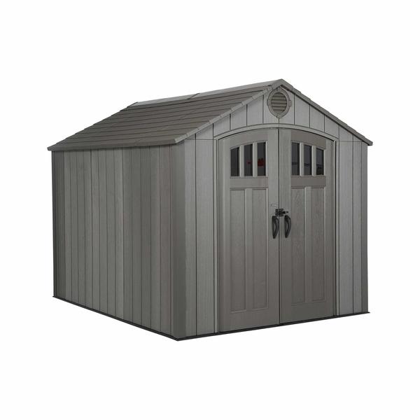 lifetime 8 foot x 10 foot polyethylene outdoor storage shed - rough YJMZQHM