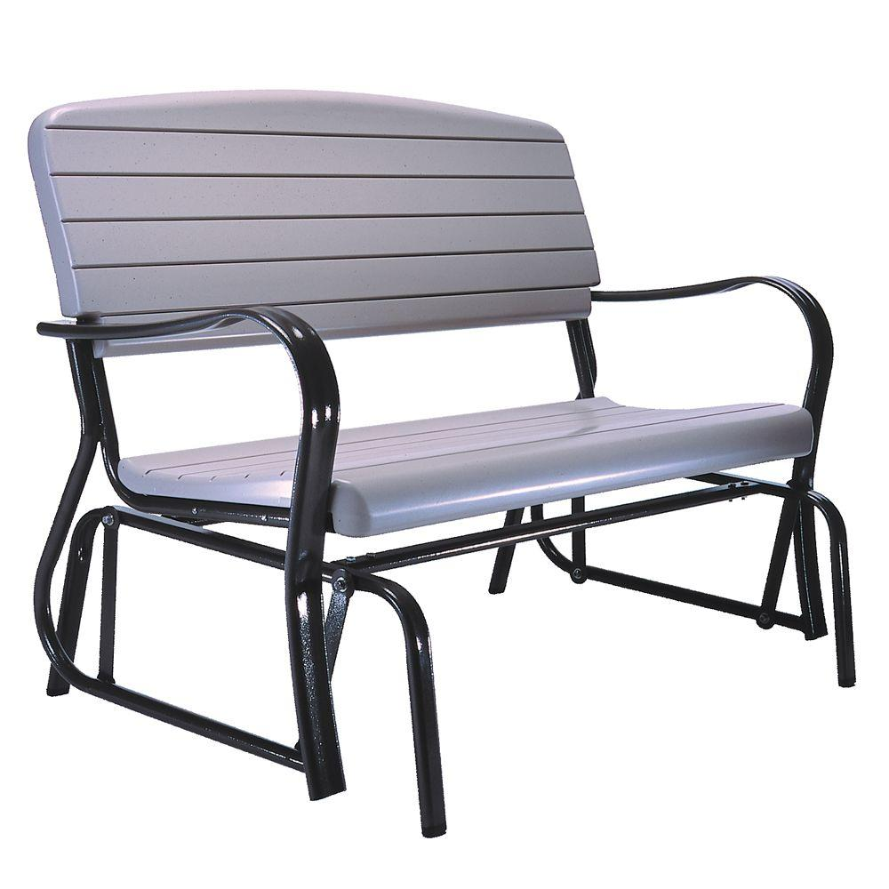 lifetime outdoor patio glider bench ROKDRGW