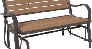 lifetime wood alternative patio glider bench JGBMKEO