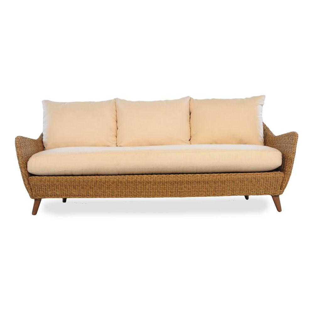 lloyd flanders tobago wicker sofa RQAPAQR