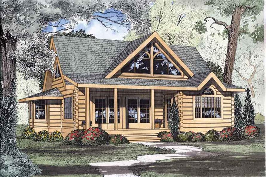 log home plans #153-1216 · 2-bedroom, 1449 sq ft log cabin home plan - 153-1216 BHRUYET