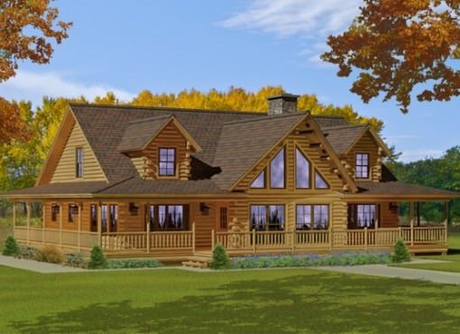 log home plans bonanza TRTBXWG