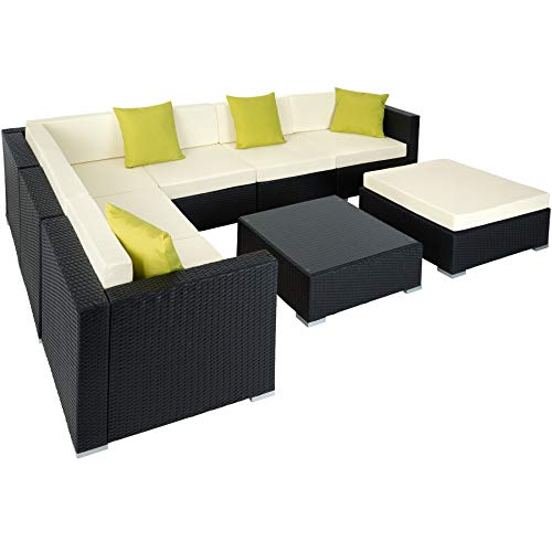 luxury garden furniture tectake aluminium luxury rattan garden furniture sofa set outdoor wicker  incl. EDBCTXX