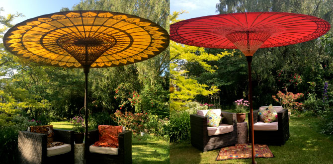 luxury garden umbrellas | garden parasols | patio sun umbrellas JETJPTH