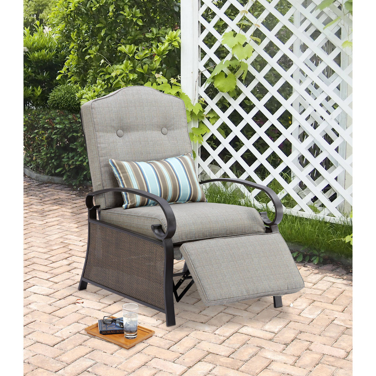 mainstays outdoor recliner, ashwood - walmart.com FQSXYEL