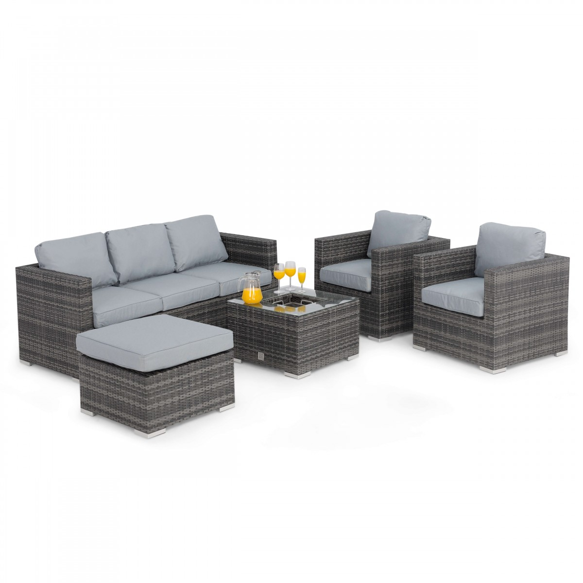 maze rattan furniture georgia 3 seat grey sofa set fla-102525 ICAFOXN