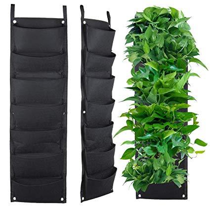 meiwo 7 pocket hanging vertical garden wall planter for yard garden home GAIWFKV