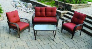 menards patio furniture backyard creations® orchard valley 4-piece deep seating patio set at menards ® PUGXYQW