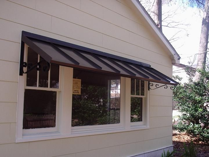 metal awnings for home | metal awning - bronze with the double POPWEOS