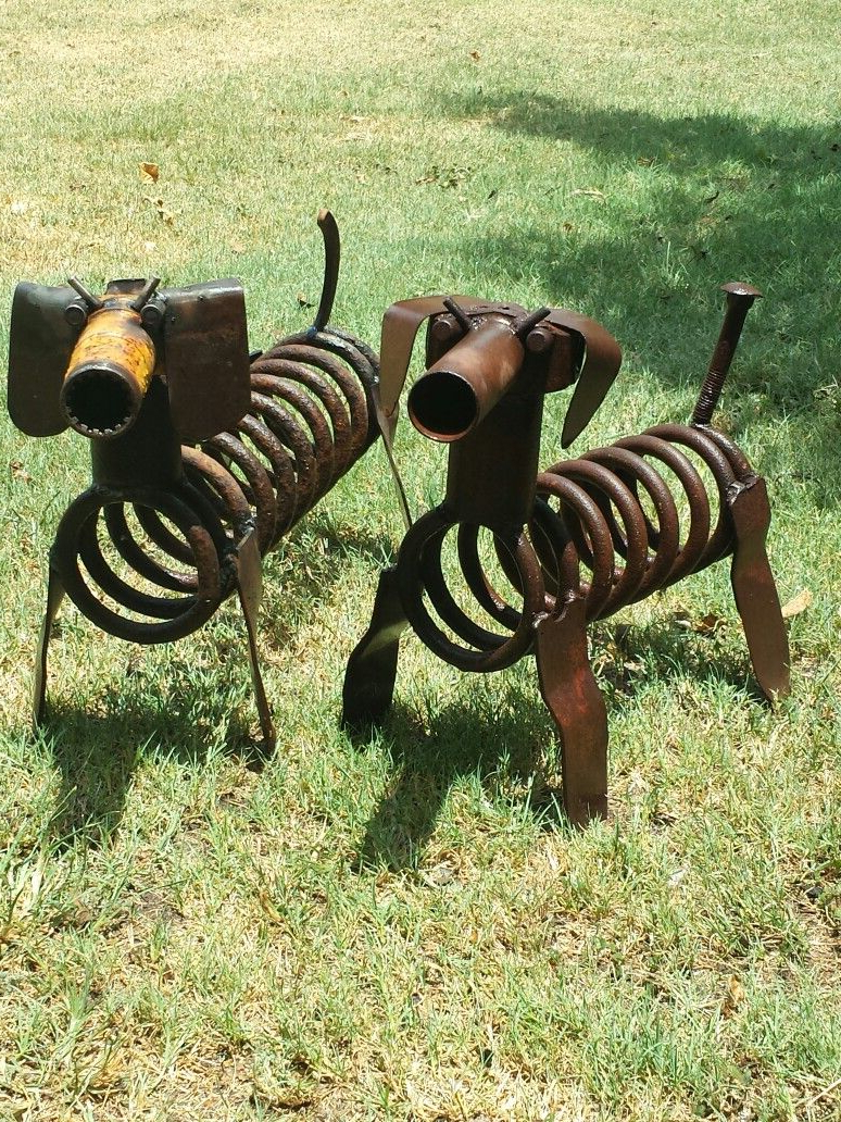 metal garden art animals metal art dogs scrap metal art junk yard EHCQXNJ