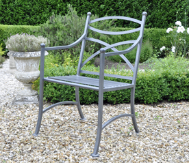 metal garden chairs chatsworth metal chair UVQDJEF