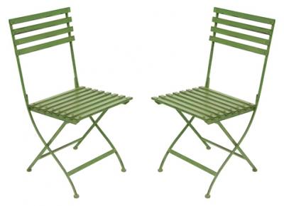 metal garden chairs pair of metal folding garden dining chairs in green pair metal AXYWCMZ