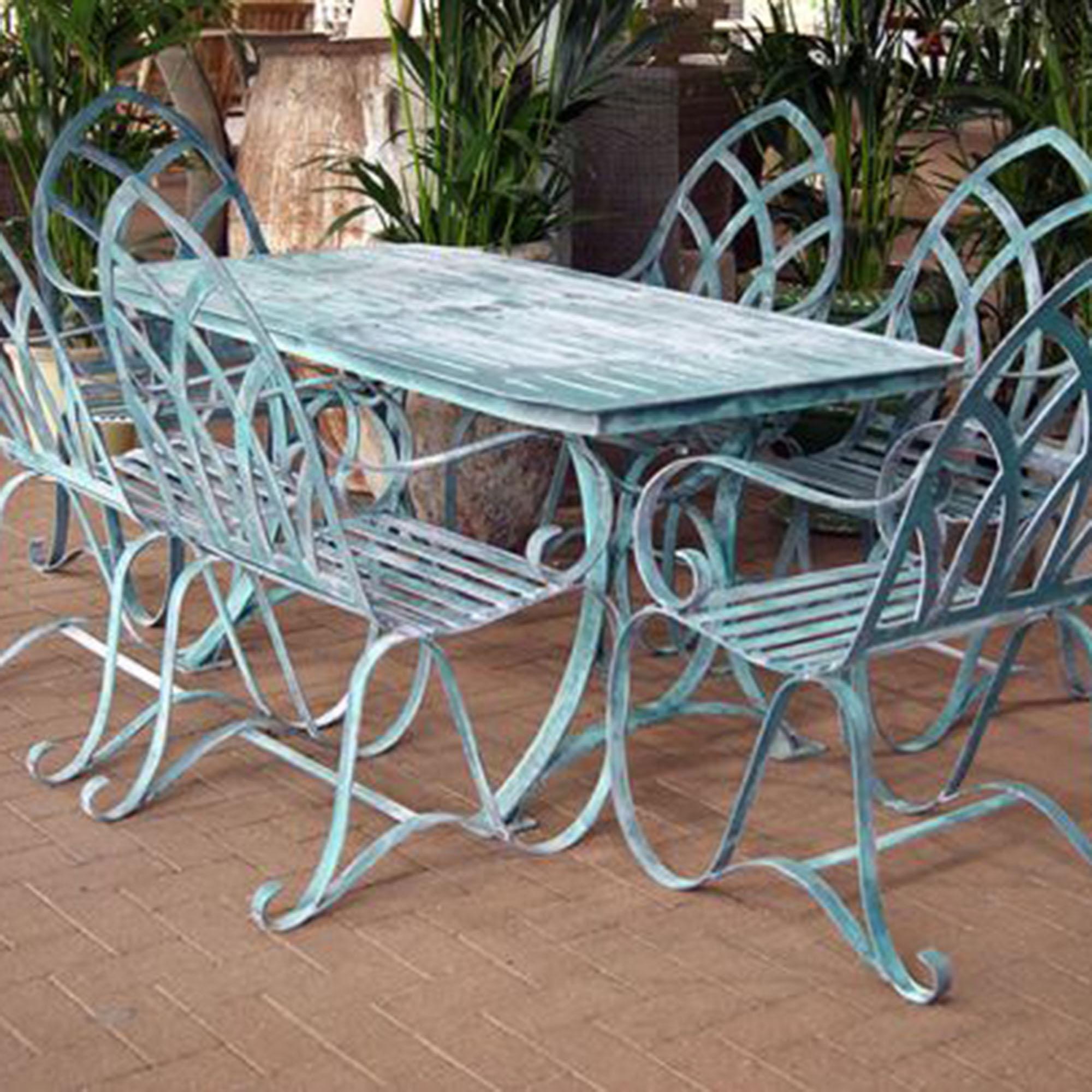 metal garden chairs why you should buy cast aluminum garden furniture? QXVJHPC
