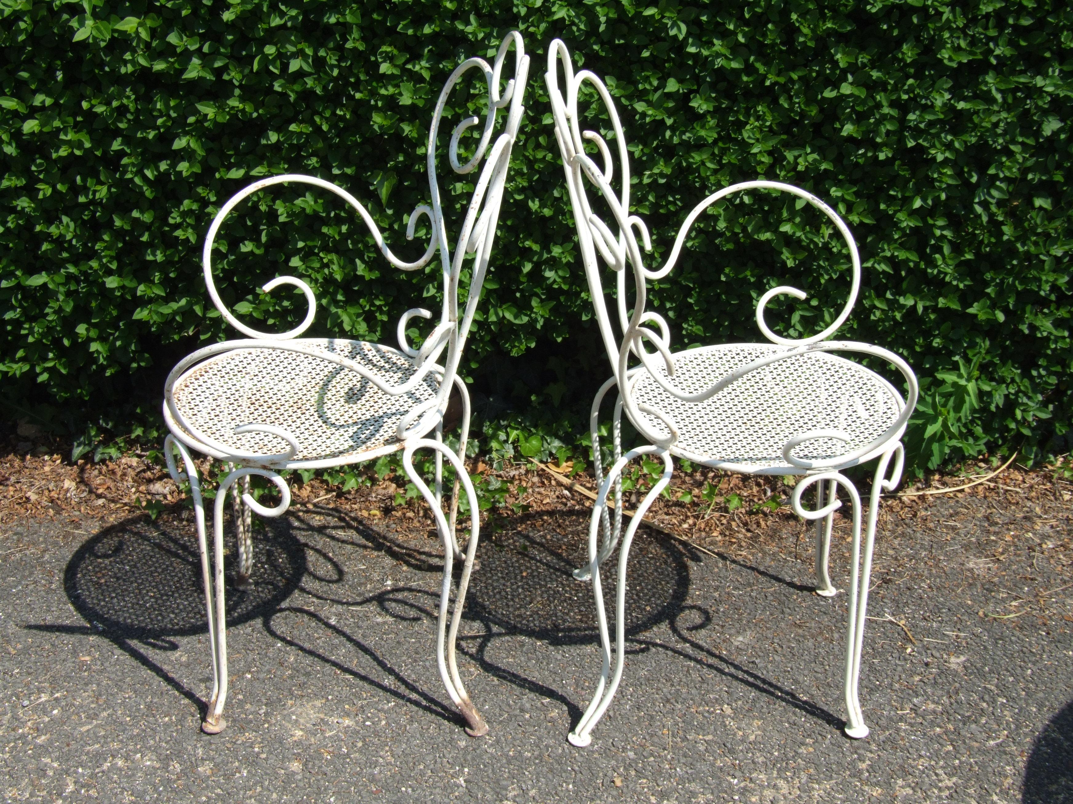 metal garden chairs wrought iron chairs australia folding chair wrought iron outdoor throughout metal TNFXELW