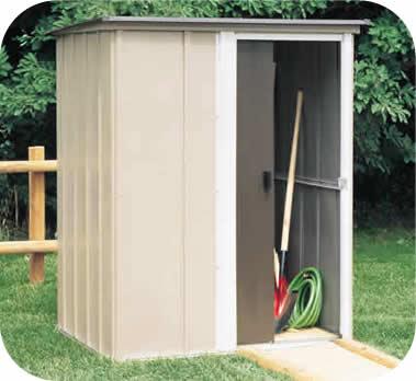 metal garden sheds brentwood 5x4 arrow metal storage shed kit UXMVQGW