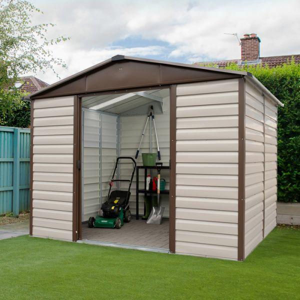 metal garden sheds yardmaster 10u0027 x 6u0027 shiplap metal garden shed IHTEKUQ