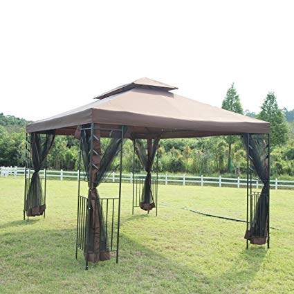 metal gazebo bestmassage 10u0027x 12u0027 outdoor garden gazebo