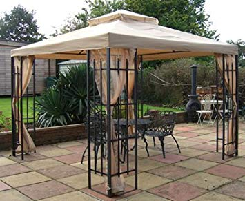 metal gazebo buckingham metal framed luxury gazebo beige