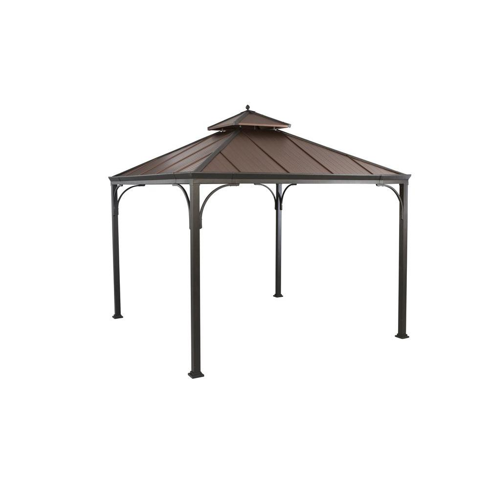metal gazebo hampton bay harper 10 ft. x