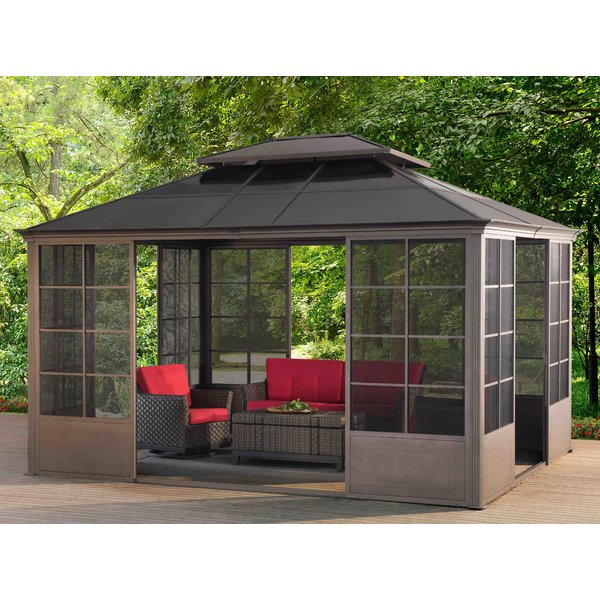 metal gazebo sunjoy 12 ft. w x 14
