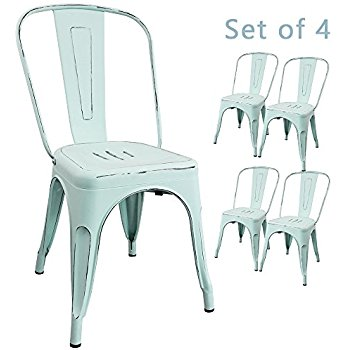 metal outdoor chairs amazon com devoko metal indoor outdoor chairs distressed style intended for UDVCIND