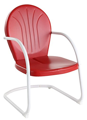 metal outdoor chairs crosley furniture griffith metal outdoor chair - red HIFUZCB
