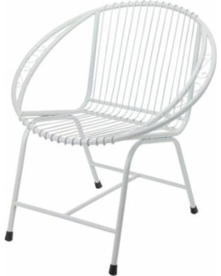 metal outdoor chairs metal chair white, veranda outdoor modern metal patio chairs - white OTMJJXL
