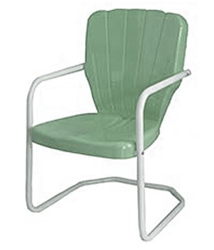 metal outdoor chairs thunderbird 1950u0027s metal lawn chair view larger photo email ... JUWQMIC