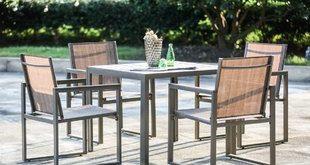 metal outdoor furniture darcie 5 piece dining set FYXGJEZ